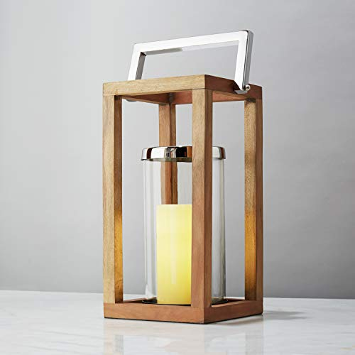 Large Wooden Candle Lantern - 21
