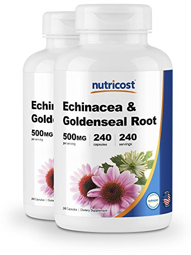 Nutricost Echinacea Goldenseal Root, 500mg, 240 Capsules 2 Bottles – High Quality Veggie Caps, Non GMO, Gluten Free
