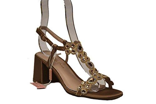 En V18308 Alma Calzature Pena Sandals Bronze UqrPPKdM4