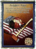Firefighters Prayer Firefighter Fireman Cotton Throw Blanket Afghan Gift