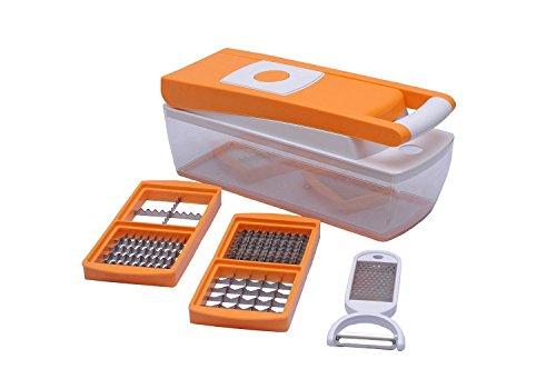 Ganesh 6-in-1 Plastic Dicer, 1 litre, Orange