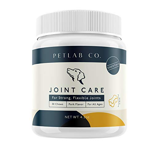 Pet Lab Joint Health Care Chews for Dogs | Arthritis Soft Chew Dog Hip and Joint Supplement Vitamins | Omega 3 Fatty Acids, Magnesium, MSM, Glucosamine Chondroitin Chewable Supplements from Pet Lab
