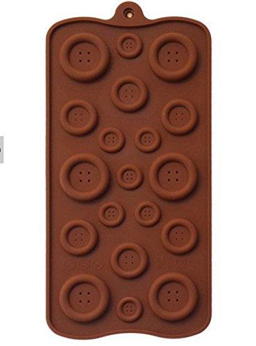 Molde de silicona para hacer chocolate fondant ebible o formación de botones