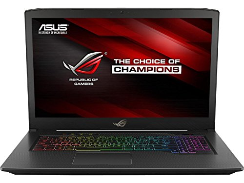 2018 Premium Asus ROG Strix Edition 17.3 Full HD 120Hz VR Ready Gaming Laptop, Intel Quad-Core i7-7700HQ 16GB DDR4 256GB SSD+1TB HDD 6GB NVIDIA GeForce GTX 1060 RGB Backlit Keyboard USB Type-C Win 10
