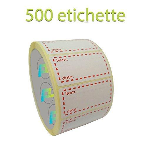 Palucart - Etiquetas para congelador, 500 Unidades, 50 x 25 mm ...