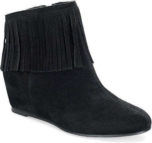 Comfortiva Riverton Round Toe Suede Ankle Boot, Black Suede, Size 6.0