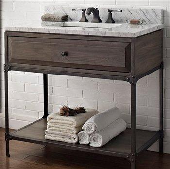 Fairmont Designs 36 Inch Toledo Open Shelf Vanity - Driftwood Gray (Inch Fairmont Vanity 36)