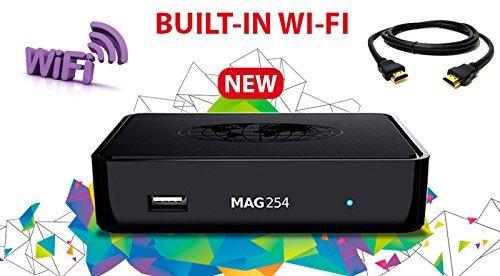 MAG 254 MAG254W1 IPTV Full HD 3D Media Streamer STB - Built in WiFi 2016 v2.13 Model+HDMI by Infomir