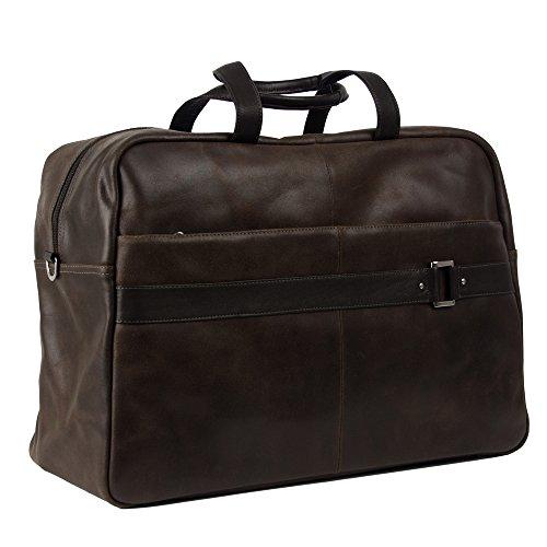 (Piel Leather Vintage Urban Duffel, Brown)