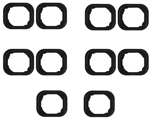 100PCS/LOT WHOLESALE Rubber Gasket Home Button Holder Adhesive for iPhone 6, 6 Plus & 6s, 6S Plus from StarYue