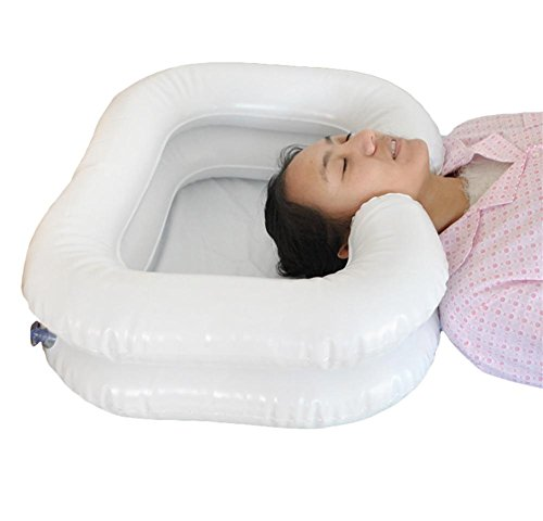 LUCKYYYAN PVC Inflatable Shampoo Basin Bathing Aid - Wash Hair In Bed by LUCKYYAN
