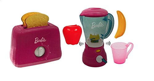 Barbie Mixer and Toaster Kitchen Appliance Play Set Toys Bundle. (Barbie Do Play)