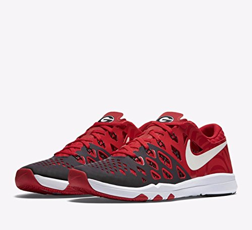 Nike Mens Train Speed 4 AMP Georgia Bulldogs Training Shoes 644102-601 (Size 8.5) Red/White/Black PnNnS