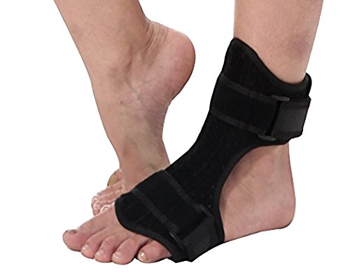 Plantar Fasciitis Night Drop Foot Brace - Dorsal Splint AFO Orthotic Stretch Fits Right & Left Foot, Adjustable Instep Injury Support Women & Men, Heel Pain Relief by Tenbon