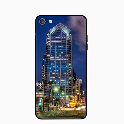 iPhone 6S Case/iPhone 6 Case, Us Road House San - Diego Lanterns Night Printed Slim Case with TPU Bumper Protective Case Cover Compatible for iPhone 6/iPhone 6S