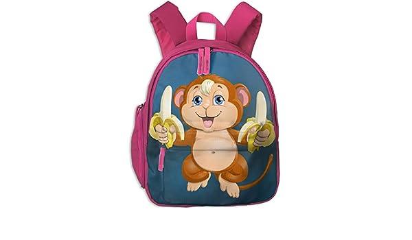6ef5a7ff31c1 Amazon.com: Withbbts Cute Cartoon Monkey Banana Small Kids Backpack ...