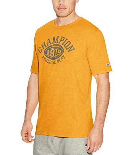 Champion Men's Heritage Slub Tee, Gold Glimmer/Quarterback -
