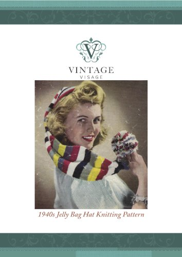 How to make a 1940s style pirate stocking cap- use up odds and ends-knitting pattern
