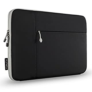 Runetz MacBook Pro 15 inch Sleeve Neoprene Case for A1990, A1707, A1398 with Accessory Pocket Cover 2019 2018 2017 2016 Laptop Sleeve 15 inch, Black