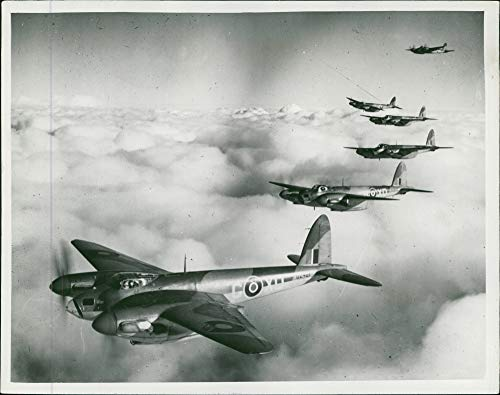 Engine Twin Mosquito (Vintage photo of de Havilland Mosquito Combat aircraft:)