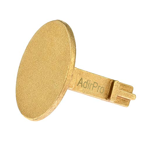 (AdirPro Survey Markers - Durable Solid Brass & Low Profile Permanent Boundary Marking Caps/Stakes - for Surveying & Measuring Property & Land Area (2 Inch,)