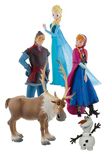 Bullyland 12220 - Figurenset Walt Disney Frozen, 5 Figuren