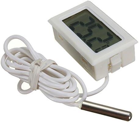 WINGONEER Monitor de temperatura Digital LCD Termómetro con sonda ...