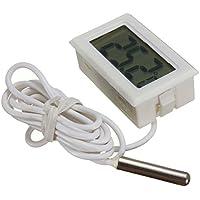 WINGONEER Digital LCD Thermometer Temperature Monitor with External Probe For Fridge Freezer Refrigerator Aquarium…