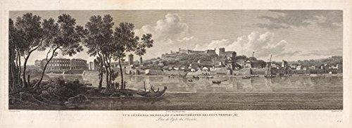 Engraving Reproduction Poster (Vue Generale de Pola, de l'amphitheatre des deux Temples., 1802 |Historic Engravings | Vintage Antique Poster Reproduction)