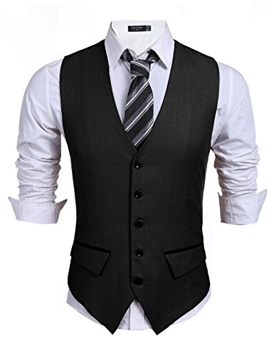 1920 Mens Fashion - COOFANDY Men's Business Suit Vest,Slim Fit