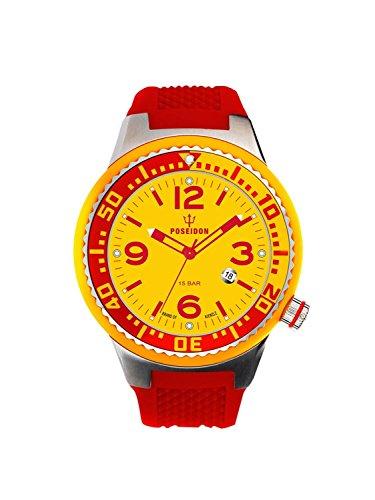 Kienzle Poseidon Men's S Slim Watch - Red and Yellow