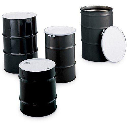 Skolnik Carbon Steel Drums - Closed-Head Drums - 16-Gal. Capacity - Black - 16 Gallon Drum