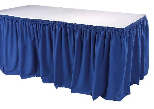 Phoenix 21-1/2 Feet Table Skirting, Shirred, Royal Blue ()