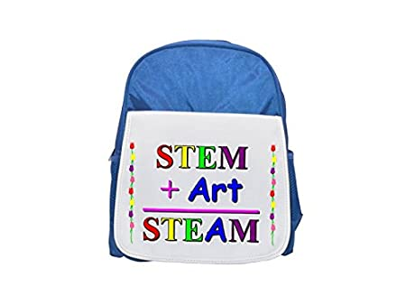 767459540418 STEM Art STEAM printed kid s blue backpack