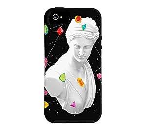 Geometric Gods II iPhone 5/5s Black Tough Phone Case - Design By Humans