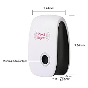 [2018 UPGRADED] JINGJIA Pest Control Ultrasonic Repellent Non-toxic Environment-friendly Repels for Mosquitoes, Mice, Spiders, Ants, Rats, Roaches, Bed Bug (set of 6)