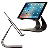 iPad Stand Stabile 2.0. A designed and made in the USA single artistic shape from 2.25 pounds of 0.120 inch thick solid steel. This award winning design creates an extremely low center of gravity that keeps the iPad fixed in the stand, earning its st...