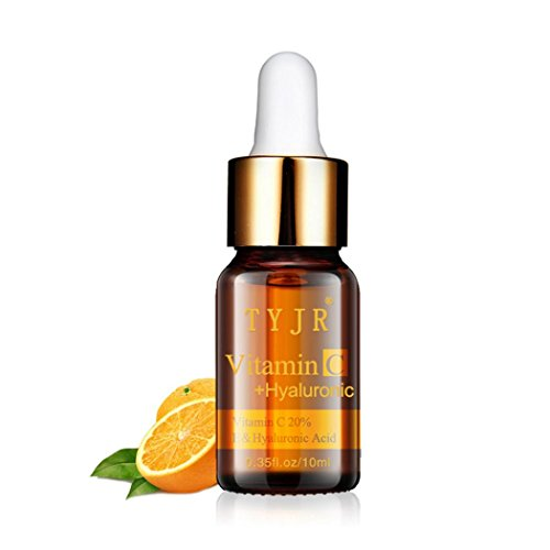 Essence Liquid, Roysberry Facial Lift Essence Cream - Orange Vitamin C Massage Anti-Aging Eternal Hyaluronic Acid Natural Pure Firming Collagen Strong Anti Wrinkle - Moisturizing Essence (10 ml) ()