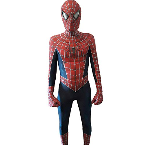 TUJHGF Spider-Man Tobey Cosplay Toy Costume Fancy Dress Costume Bodysuit Jumpsuits Attire,A-S -