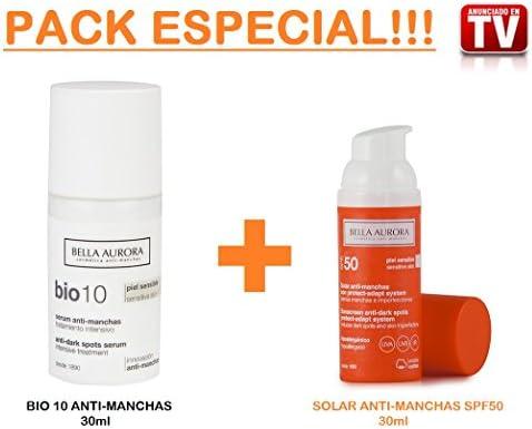 BELLA AURORA Bio 10 Serum SPF15 + Gel Exfoliante GRATIS: Amazon.es: Salud y cuidado personal