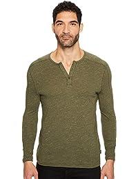 Men's Long Sleeved Henley Bbk3b 391