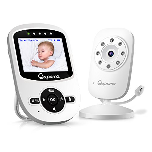 (Video Baby Monitor,2.4'' Color LCD Screen,with Digital Camera,Infrared Night Vision, Two Way Talkback, Temperature Monitoring,Strong Signal and Long Range)