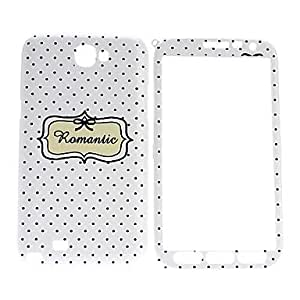 ZCL-Dots Pattern Front y Back Case Cuerpo Completo para Samsung Galaxy Note N7100 2