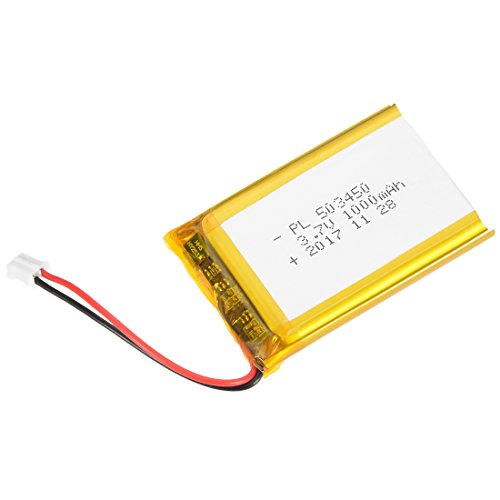 uxcell Power Supply DC 3.7V 1000mAh 503450 Li-ion Rechargeable Lithium Polymer Li-Po Battery