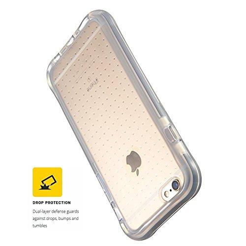 Custodia iPhone 6 6S 4.7 Con Proteggi Schermo, FOHO Imbottite Con Tecnologia Trasparente Cover Posteriore Rigida e TPU Bumper Custodia Per iPhone 66S Case, iPhone 66S Cover