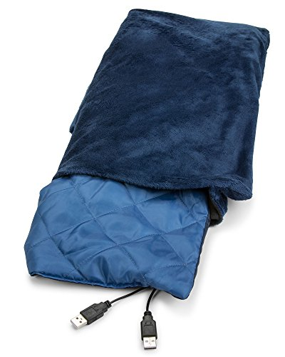 Usb Heated Shawl And Lap Blanket Blue Color Usb Heated