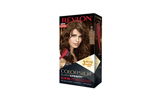 Revlon ColorSilk Buttercream Hair Dye, Medium Golden Brown