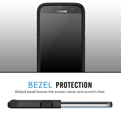 MoKo Galaxy S7 Funda - Resistente Armadura Híbrida Parachoque / Bumper Back Cover Case para para Samsung Galaxy S7 5.1 Smartphone 2016 Edición ( No Apta Galaxy S7 Edge ), Índigo Negro