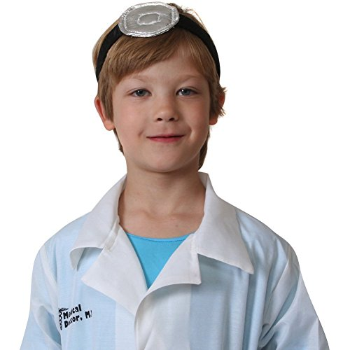 One Size Adjustable Vintage Style Doctor Mirror Headband (Surgeon And Patient Halloween Costume)