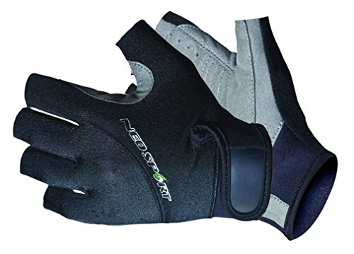 NeoSport Wetsuits Premium Neoprene 1.5mm 3/4 Finger Glove, Black, Large - Diving, Snorkeling & Waterskiing
